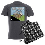 Cow Pies Men's Charcoal Pajamas