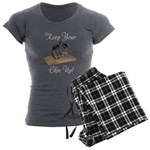 Keep Your Chin Up Women's Charcoal Pajamas