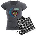 My Crescent Owl Women's Charcoal Pajamas