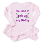 USN I'm here to pick up my Daddy ver5 Baby Pajamas