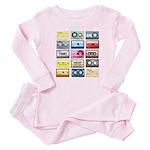Mixtapes Color Cassette Baby Pajamas