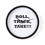 Roll,Track,Take! Wall Clock