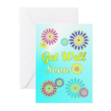 Get Well Soon Greeting Cards (Pk of 10)