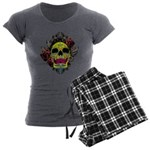 Sugar Skull Women's Charcoal Pajamas