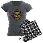 Sugar Skull Women's Charcoal Pajamas