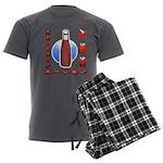 Ketchup Kicks Ass Men's Charcoal Pajamas