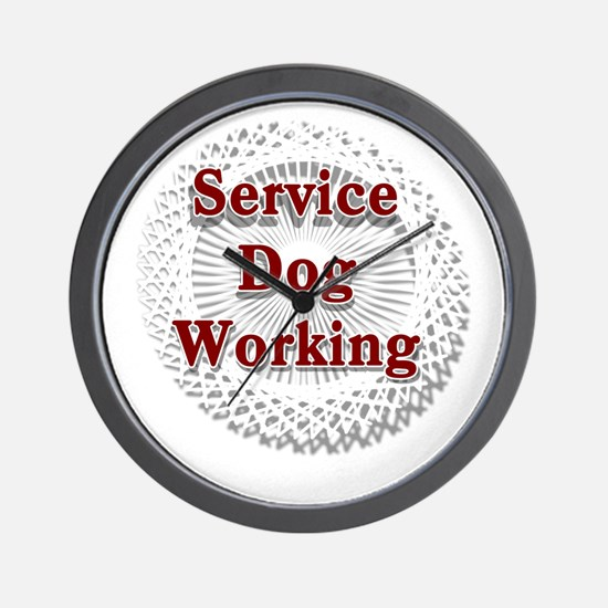 SERVICE DOG SHOP Wall Clock