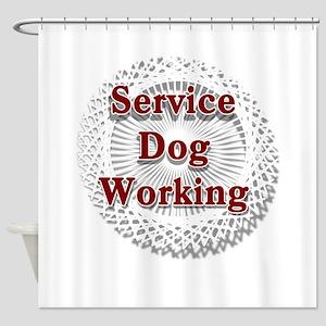 SERVICE DOG SHOP Shower Curtain