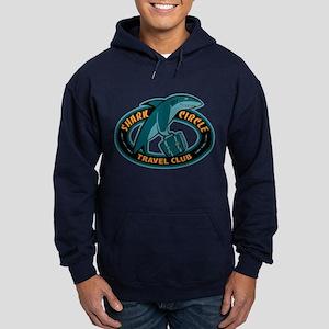 Shark Circle Travel Club Hoodie (dark)