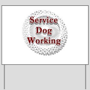 SERVICE DOG SHOP Yard Sign