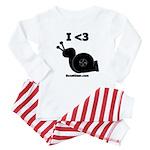 I <3 Turbo Snail - Baby Pajamas by BoostGear