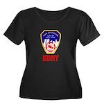 HDNY Women's Plus Size Scoop Neck Dark T-Shirt