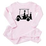 Golf Cart Icon Toddler Pink Pajamas