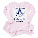 The Masonic Lewis Toddler Pink Pajamas
