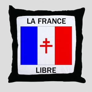 Free France Throw Pillow