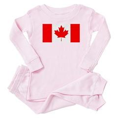 Candian Flag Baby Pajamas