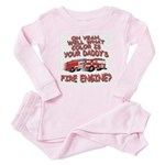 Daddy Fire Truck Baby Pajamas