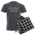 dormio ergo sum Men's Charcoal Pajamas