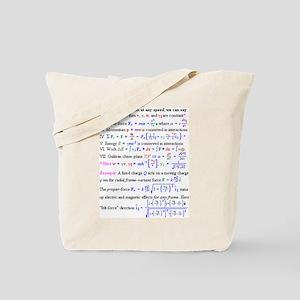 Equations Tote Bag