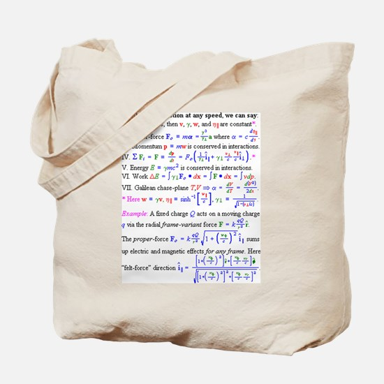 Equations Tote Bag