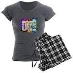 Color Me Uke! Women's Charcoal Pajamas