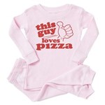 This Guy Loves Pizza Pink Pajamas