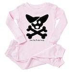 Pirate Corgi Skull Toddler Pink Pajamas