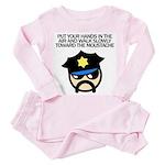 Walk Toward the Moustache Toddler Pink Pajamas