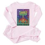 Celtic Tree Of Life Toddler Pink Pajamas