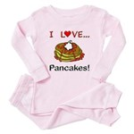 I Love Pancakes Toddler Pink Pajamas
