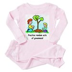 Earth Day Toddler Pink Pajamas