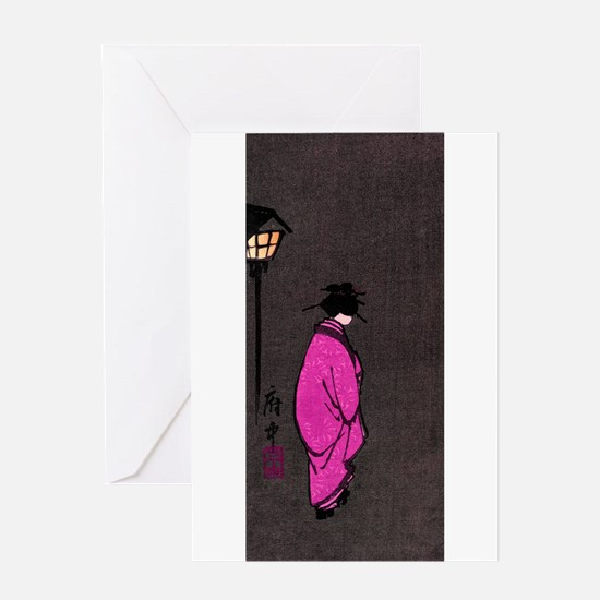 Woodblock print Greeting Card