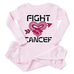 Fight Cancer Toddler Pink Pajamas