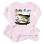 Musky Hunter Toddler Pink Pajamas