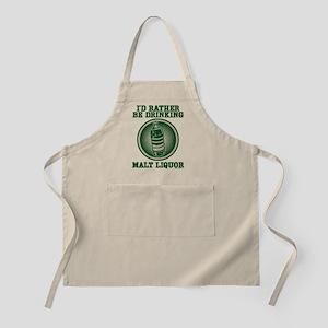 Rather Be Drinking Malt Liquo BBQ Apron