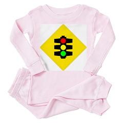 Traffic Light Sign - Toddler Pink Pajamas