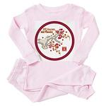 Mei Flowers Toddler Pink Pajamas