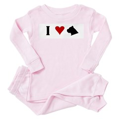 I Heart Cane Corso Toddler Pink Pajamas