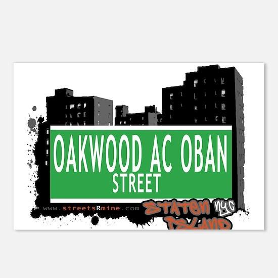 OAKWOOD AC OBAN STREET, STATEN ISLAND, NYC Postcar