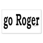 go Roger Rectangle Sticker