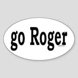 go Roger Oval Sticker