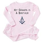 Grampa is a Brother Toddler Pink Pajamas