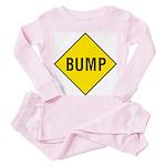 Yellow Bump Sign - Toddler Pink Pajamas