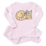 OrangeTabby ASL Kitty Toddler Pink Pajamas