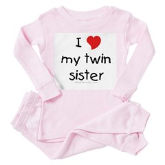 I love my twin sister Toddler Pink Pajamas