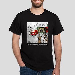 Rudolph the Brown-nosed Reind Dark T-Shirt