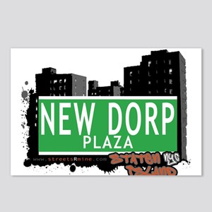 NEW DORP PLAZA, STATEN ISLAND, NYC Postcards (Pack