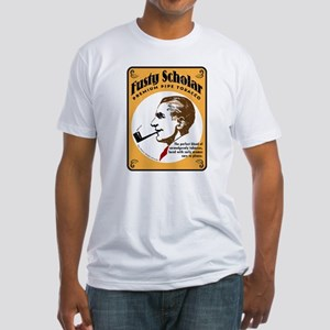 Fusty Scholar Tobacco Fitted T-Shirt