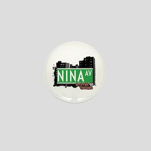 NINA AVENUE, STATEN ISLAND, NYC Mini Button