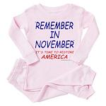 Remember November Toddler Pink Pajamas